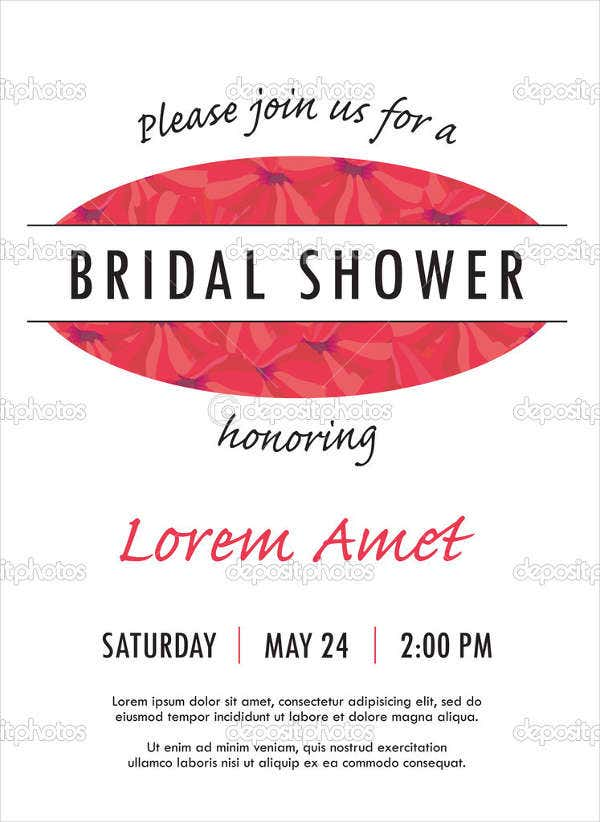 free bridal shower invitation flyer