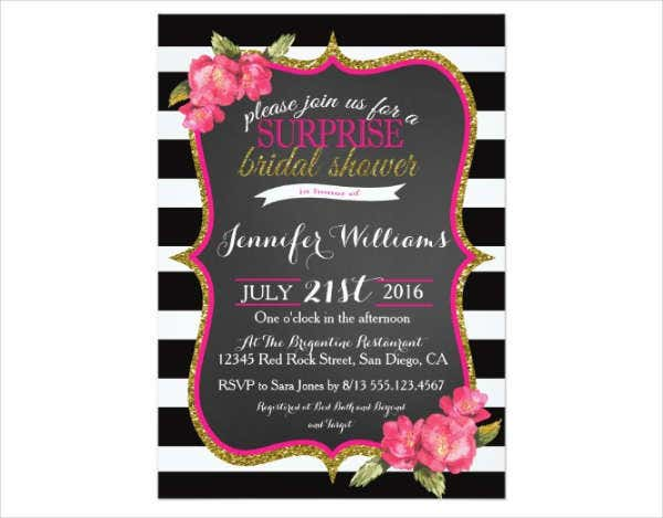 surprise bridal shower invitation flyer