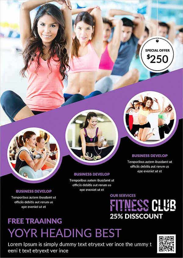 Awesome Fitness Charity Event Flyer On Free Fitness Flyer Templates