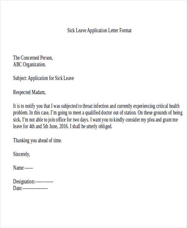 Formal letter format leave application sample letter leave application college ameliasdesalto altavistaventures Image collections