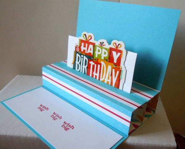 pop up birthday gift card