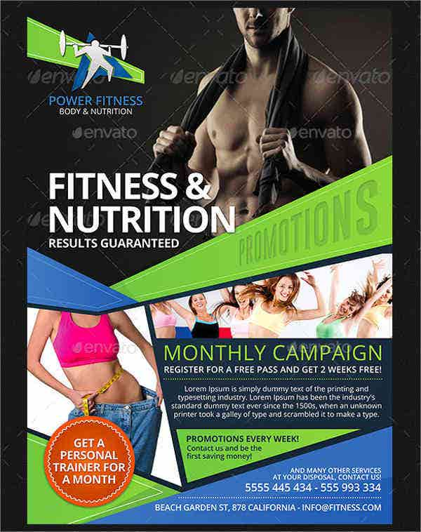 Fitness Day Event Flyer