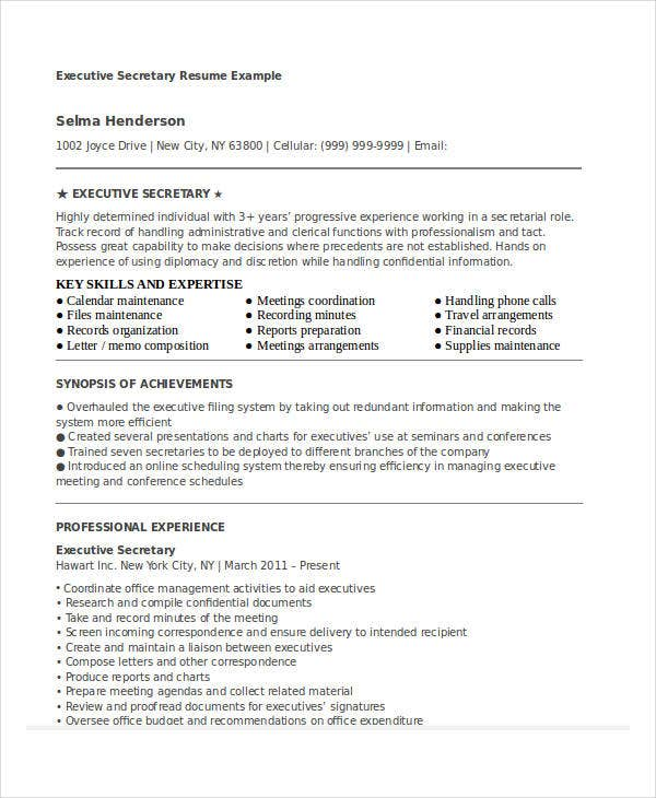 24 Printable Executive Resume Templates Pdf Doc Free