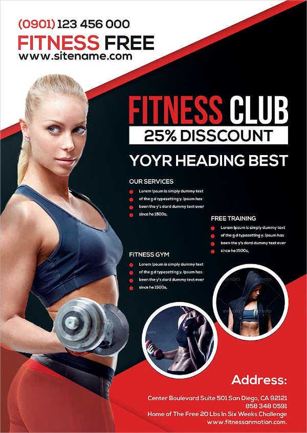 Fitness flyer templates free premium templates for Fitness brochure template