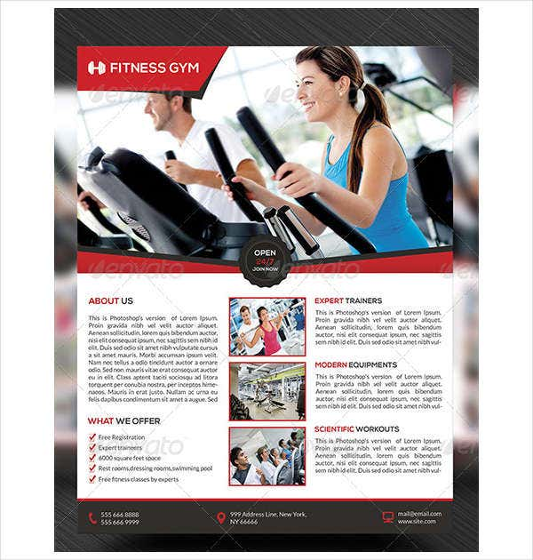 Good Health And Physical Fitness Flyer And Free Fitness Flyer Templates