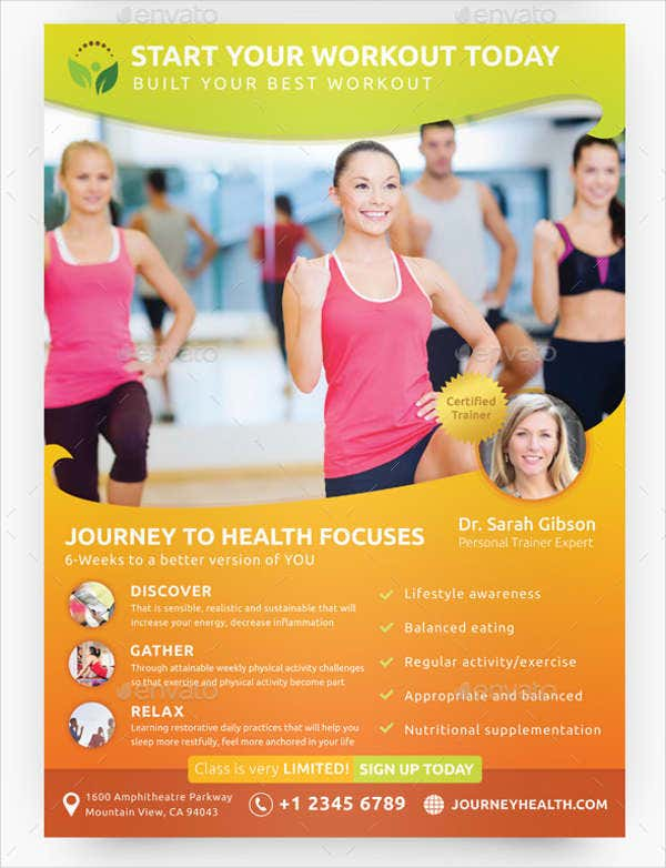 Fitness Group Class Flyer