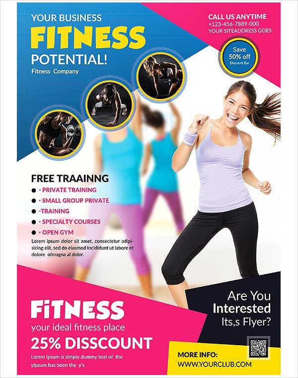 Fitness Ladies Club Flyer