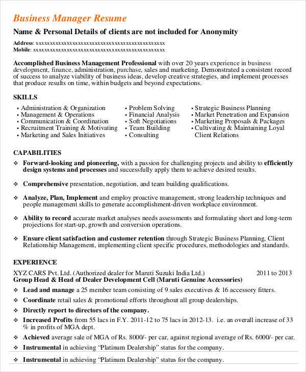 manager resume example managers resume sample pin manager resume ...