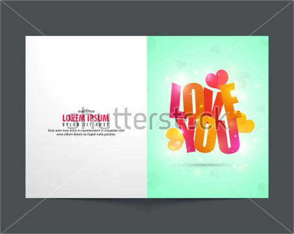 love proposal greeting card