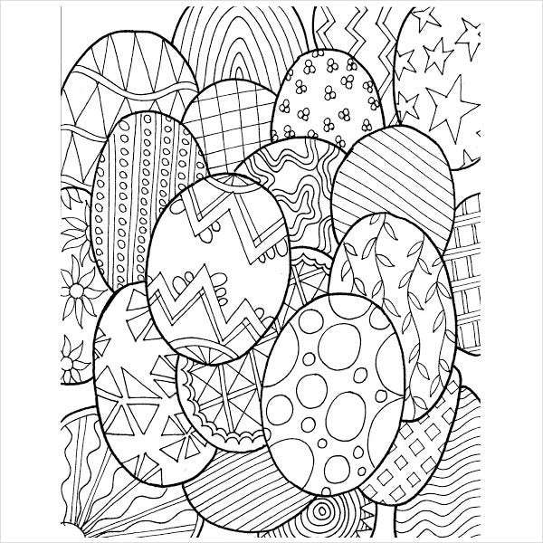 Easter Coloring Page For Adults