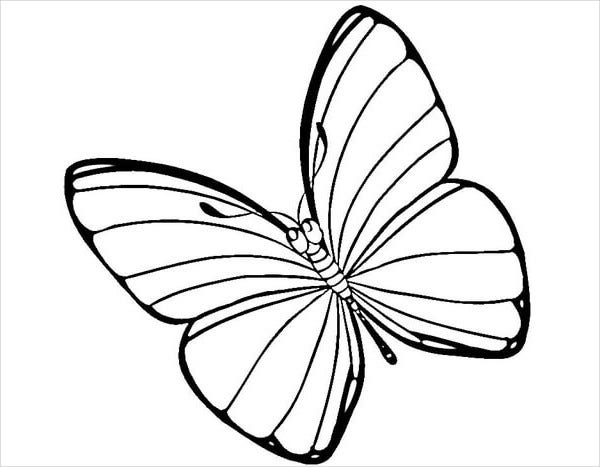 Easter Butterfly Coloring Page