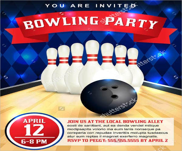 bowling birthday party flyer1