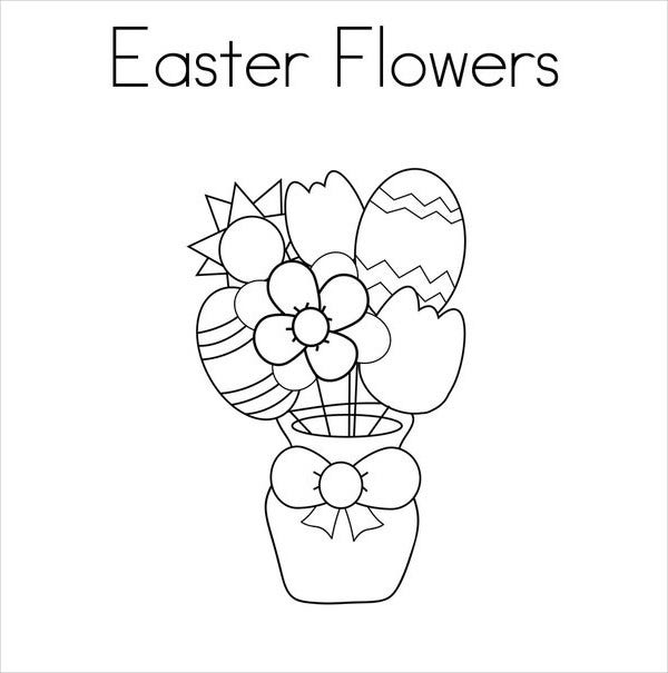 Easter Flower Coloring Page