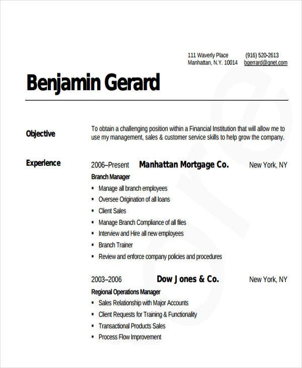 38  manager resume templates