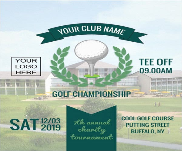golf club flyer