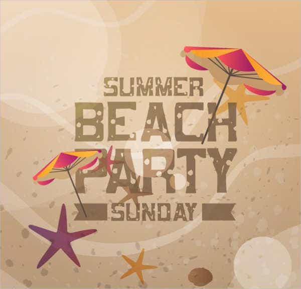 summer beach party invitation flyer1