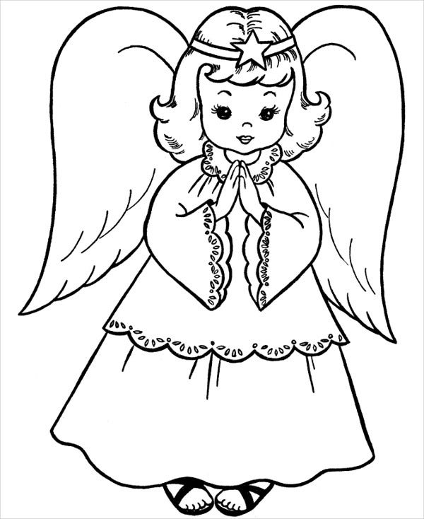 easter angel coloring page