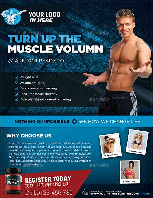 Fitness Gym Marketing Flyer