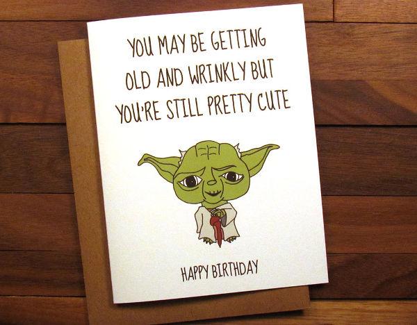 -Funny Star Wars Happy Birthday Card