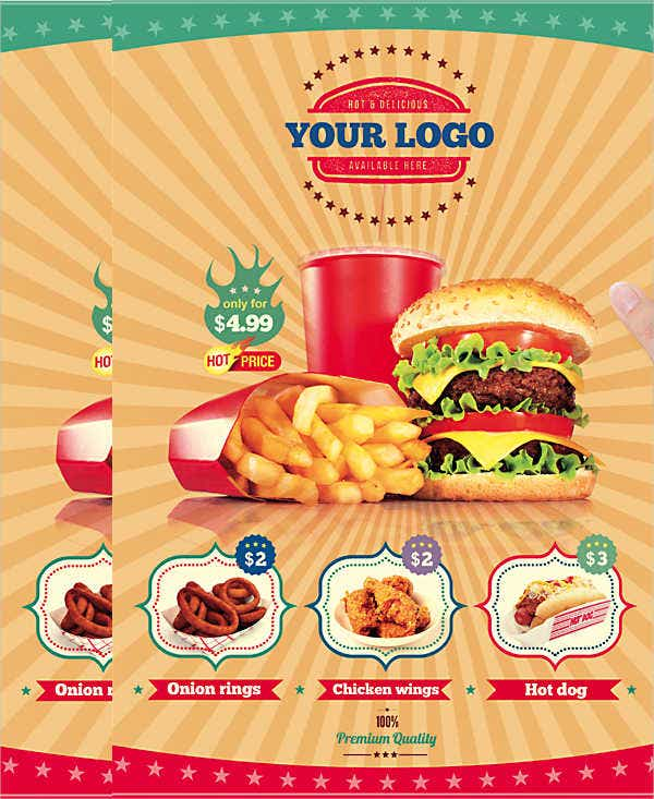 fast food restaurant invitation flyer