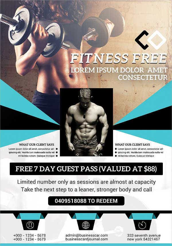 Modern Corporate Fitness Flyer