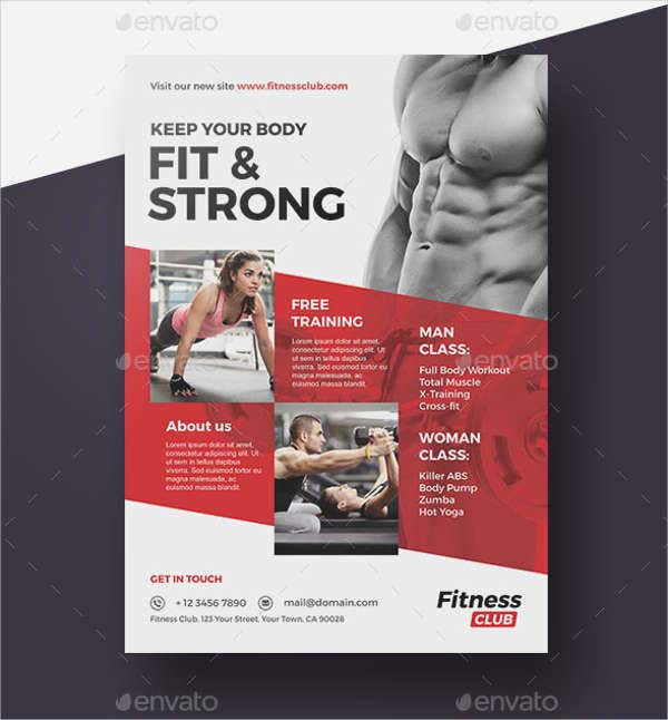 Corporate Fitness Magazine Flyer