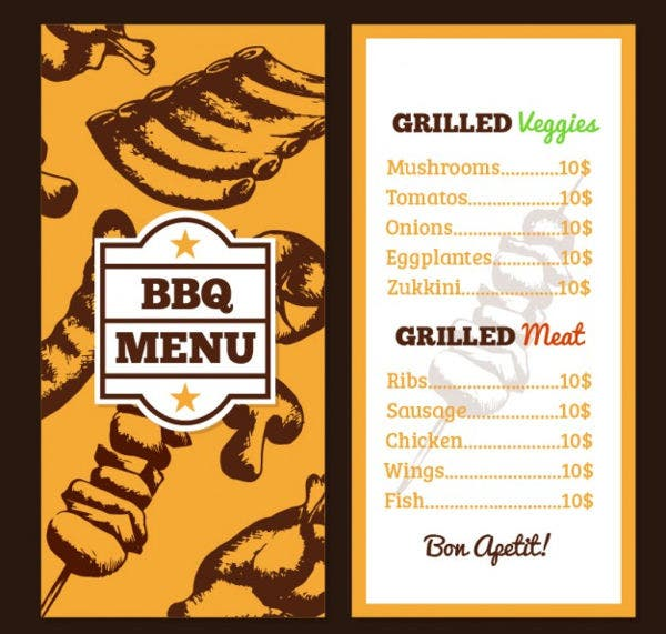 Easter BBQ Menu Template