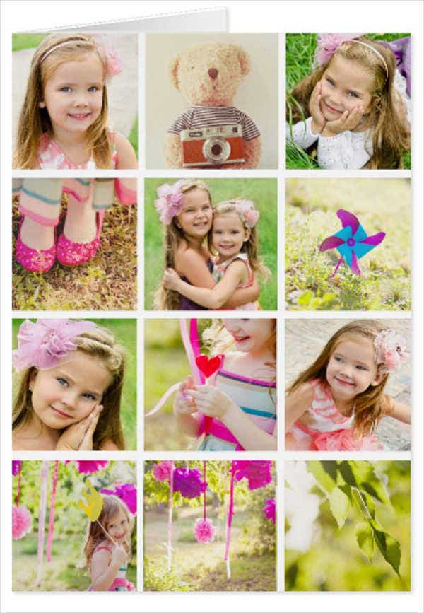 photo collage greeting card