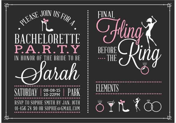 bachelorette party invitation flyer1