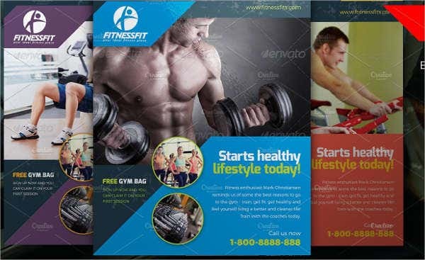 Creative Fitness Equipment Flyer