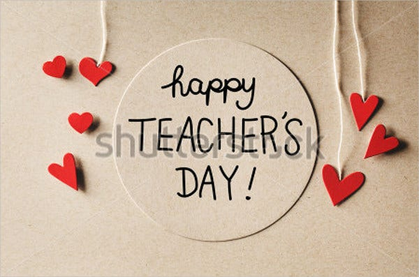 wordings for teachers day greeting card