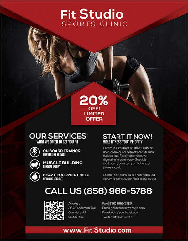 58  fitness flyer templates