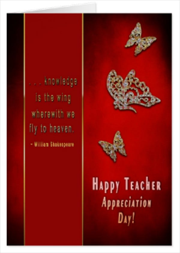 teachers day greeting card quotes