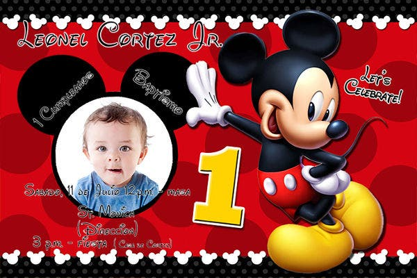 disney birthday invitation card2