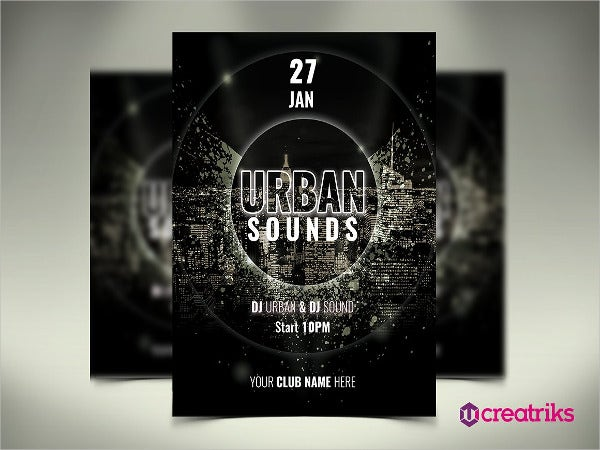 urban party music free flyer