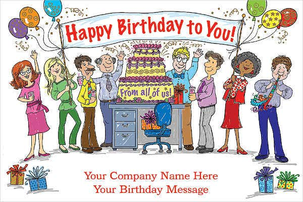 open office birthday card