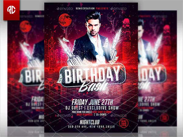 birthday bash invitation flyer2