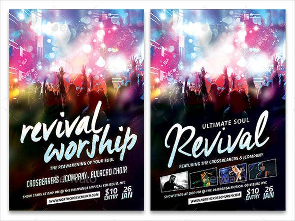 45 flyer templates in psd free premium templates for Free church revival flyer template