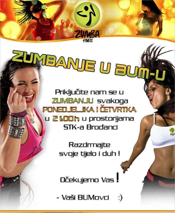 Zumba Dance Fitness Flyer