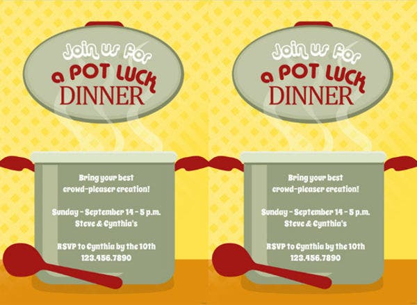 Easter Potluck Menu Template