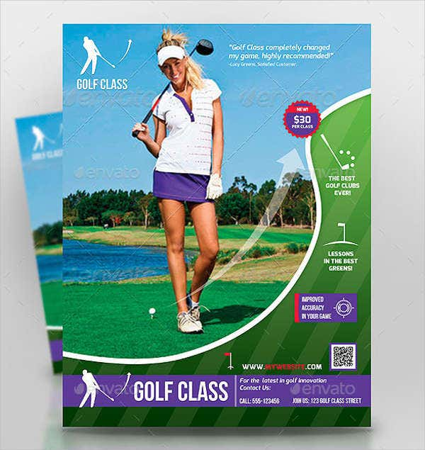 Golf Workout Fitness Flyer