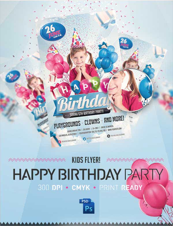 kids birthday invitation flyer2