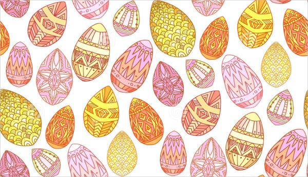 Easter Egg Texture With Doodles