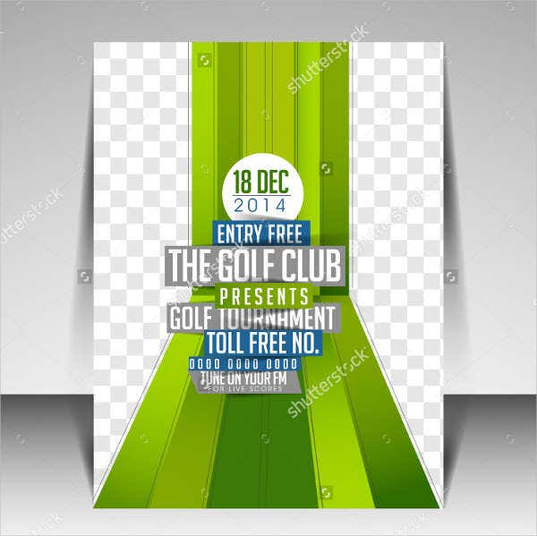 Golf Tournament Fitness Flyer