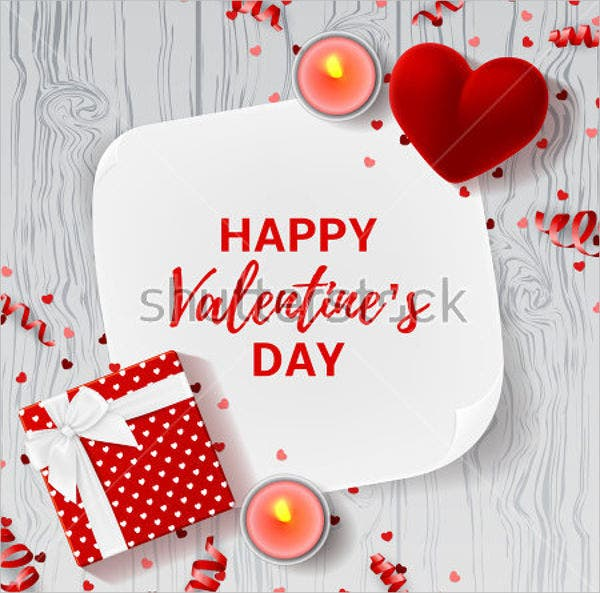 romantic valentine greeting card