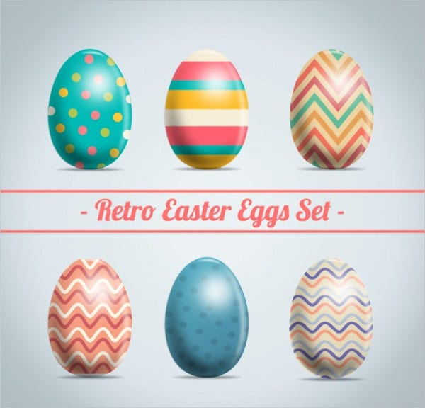 retro easter egg texture