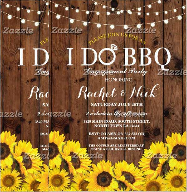 bbq lunch invitation flyer