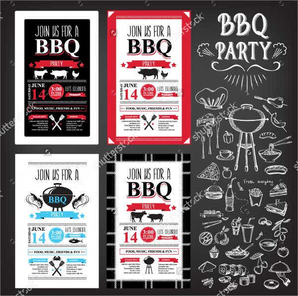 bbq invitation menu flyer