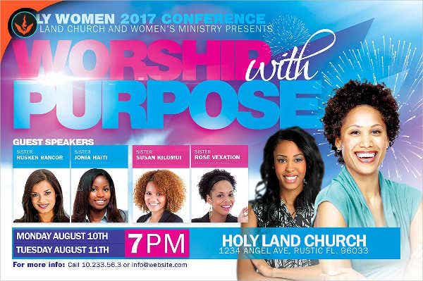 womens conference invitation flyer