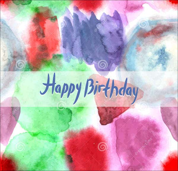 watercolor painting birthday card